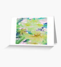 Zitrone blaugrün floral Grußkarte