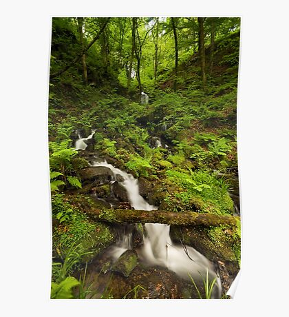 Gibson Mill Waterfall Poster