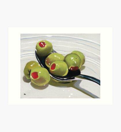 Olives on a Spoon Art Print