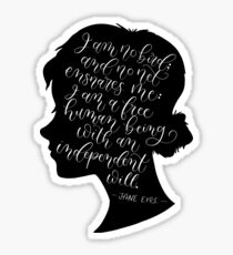 Jane Eyre Quote - Charlotte Bronte Sticker