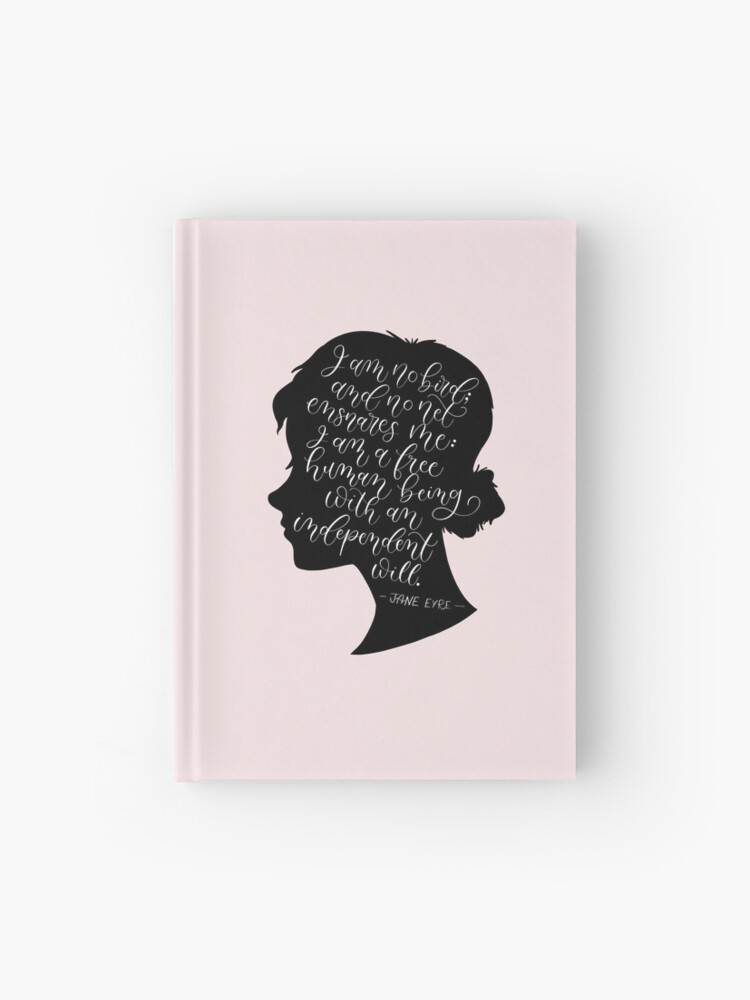 Jane Eyre Quote Charlotte Bronte Hardcover Journal