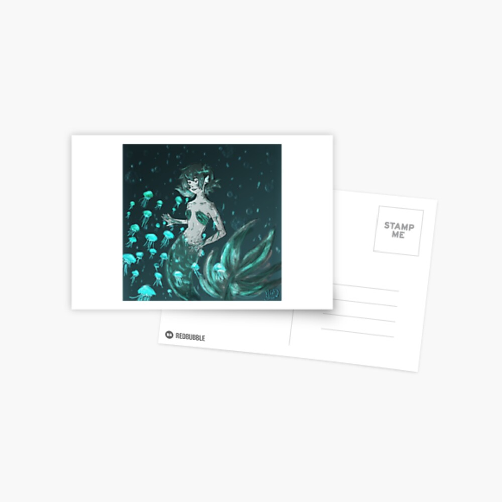 Meerjungfrau Pidge Postkarte
