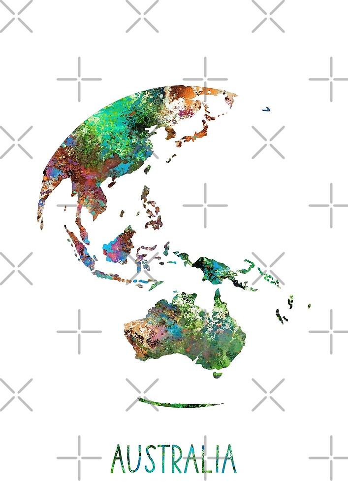 australia globe australia earth print globe australia map watercolor australia watercolor