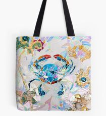 Blue Crab Mosaic Tote Bag