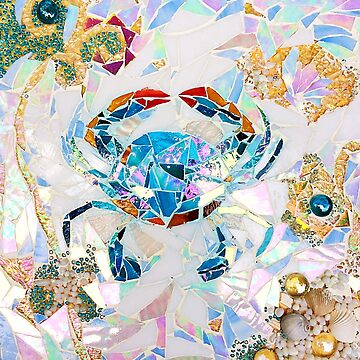 Blue Crab Mosaic by janmarvin