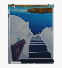 Upstairs Downstairs to Santorini Caldera iPad Case/Skin