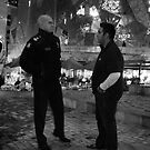 Police Chief and Demonstrator by Andrew  Makowiecki