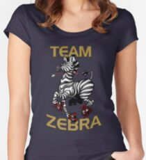 Team Zebra Women's Fitted Scoop T-Shirt