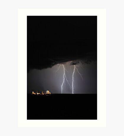 Lightning Off Fremantle  Art Print