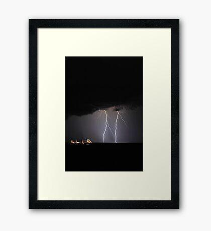 Lightning Off Fremantle  Framed Print