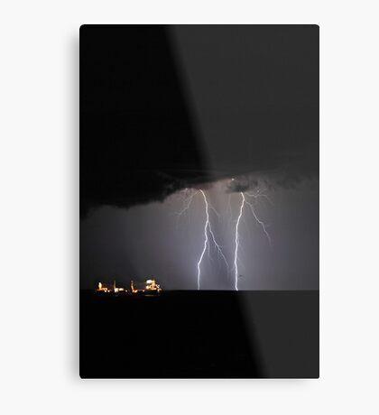 Lightning Off Fremantle  Metal Print
