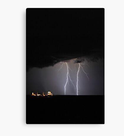 Lightning Off Fremantle  Canvas Print