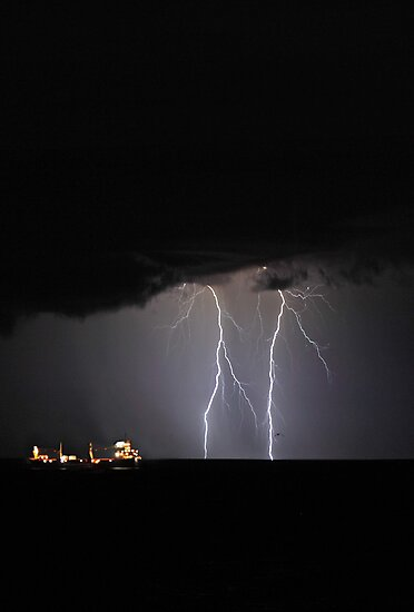 Lightning Off Fremantle  by EOS20