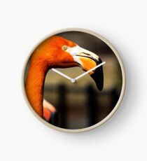 Flamingo Portrait Clock