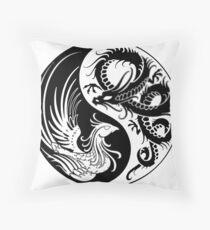 Dragon Phoenix ying yang  Throw Pillow