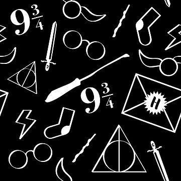 Magical Pattern - Black & White by nerdfelt