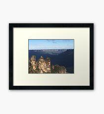 Three Sisters Of Australia Framed Print