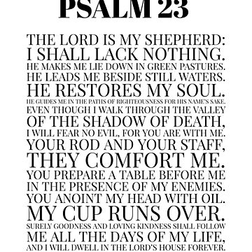 Psalm 23, Scripture Word Art, The Lord is my Shepherd Bible Verse by Dlinca