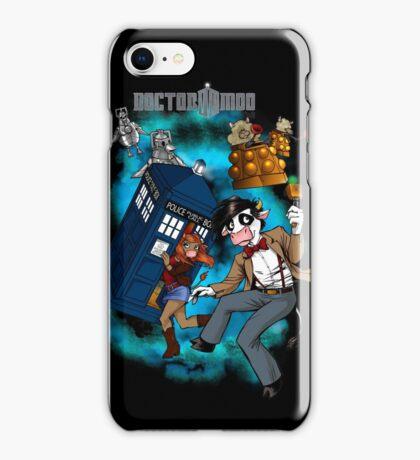 Doctor Moo vs the Baaleks and CyberHens iPhone Case/Skin
