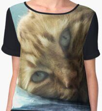 cat eyes Chiffon Top