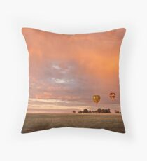 Balloons and rainbows Throw Pillow
