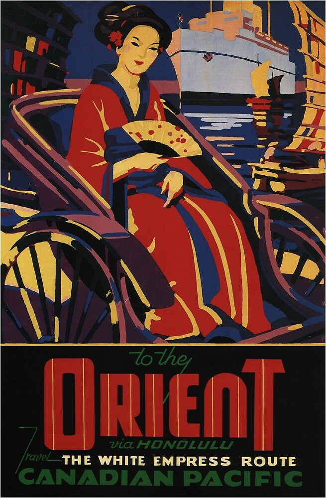 Vintage poster - Orient by mosfunky