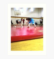 Lámina artística my teammates wrestling
