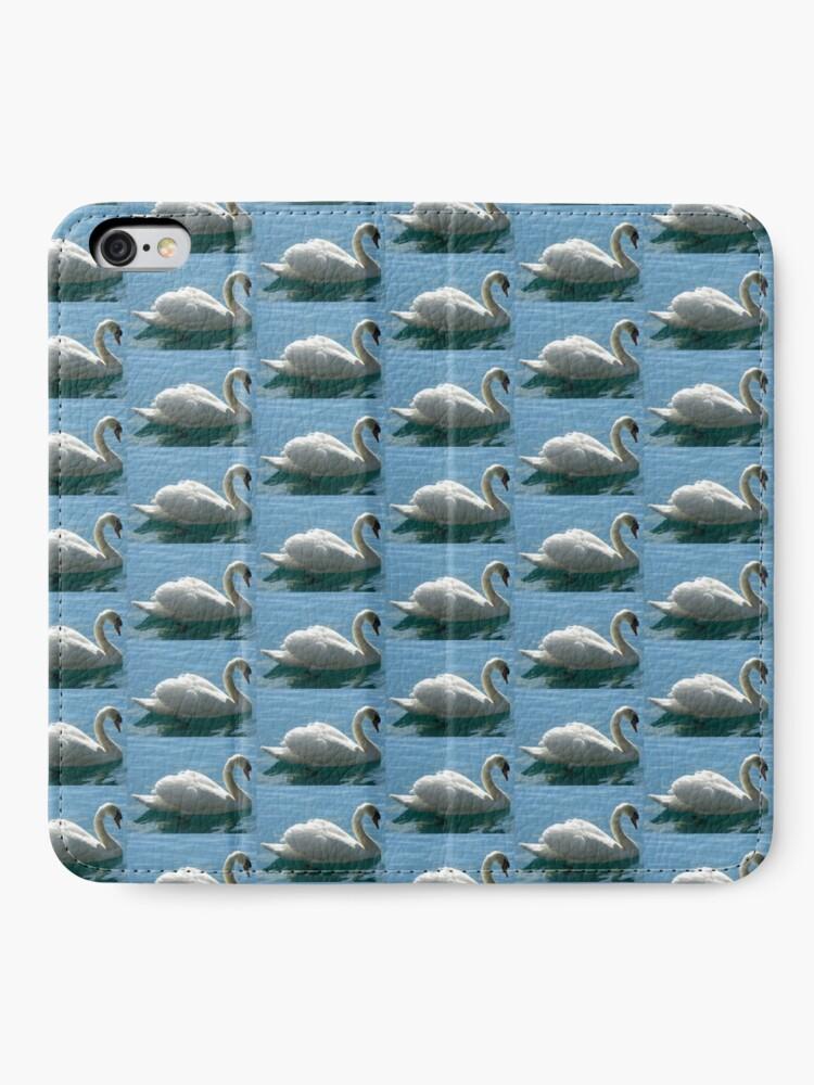 Alternative Ansicht von Schwimmen, schwan, schwimmen iPhone Flip-Case