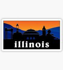 University of Illinois Patagonia Sticker Sticker