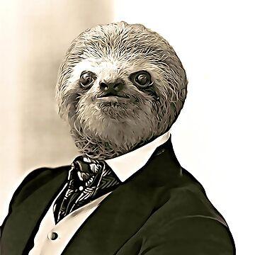 Gentleman Sloth with Nice Posture by luigitarini