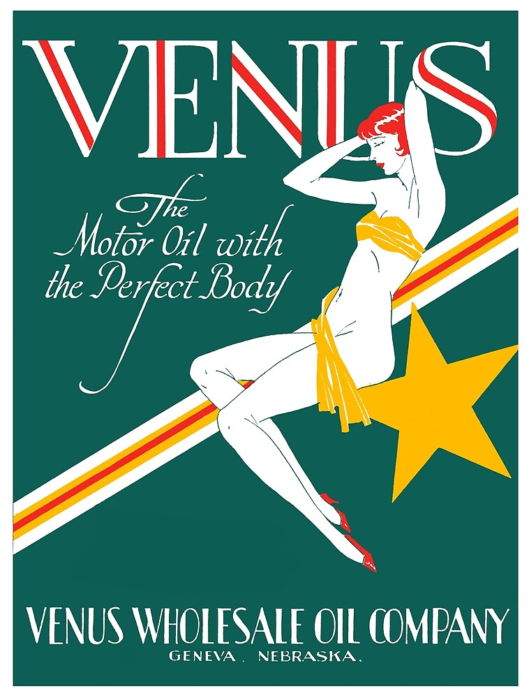 1925 Venus Oil Company by historicimage