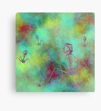 Bacteriophage Invasion  Metal Print