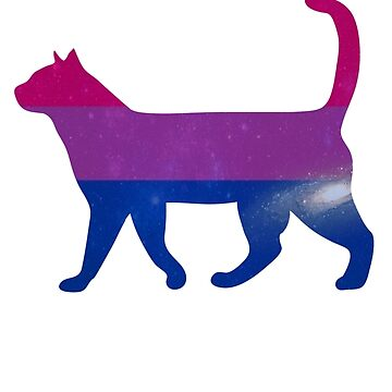 Bi pride cat by kittykarnstein
