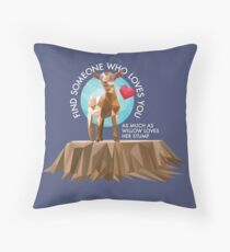 Willow & her Stump Pillow Throw Pillow