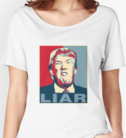Trump Liar Poster T-shirt Women's Relaxed Fit T-Shirt