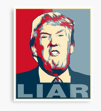 Trump Liar Poster T-shirt Metal Print