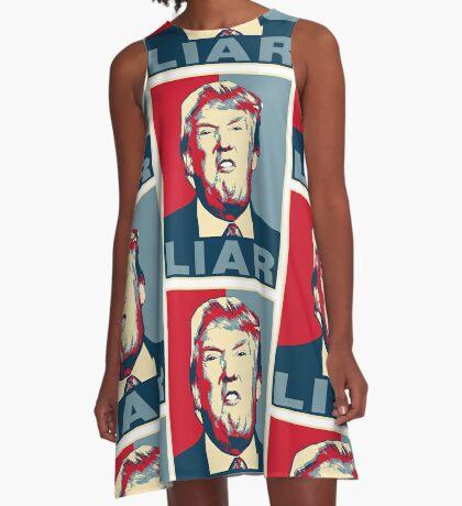 Trump Liar Poster T-shirt A-Line Dress