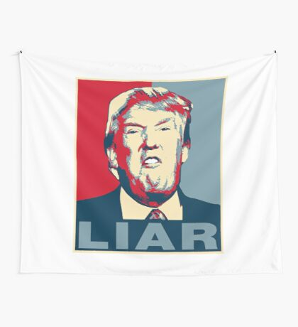 Trump Liar Poster T-shirt Wall Tapestry