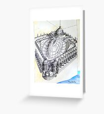 ...dreaming of being an 18th century architect.... Greeting Card