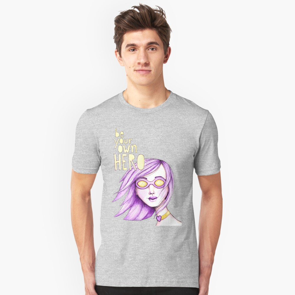 Be Your Own Hero - Purple Version Slim Fit T-Shirt