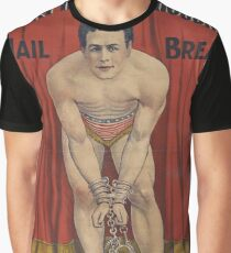 Vintage Harry Houdini Poster Graphic T-Shirt