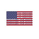Deplorable Writing on USA American Flag Color by TinyStarAmerica