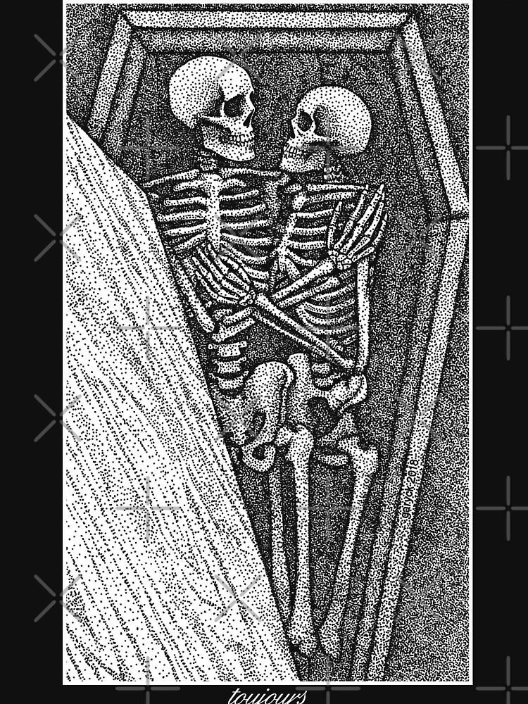 Toujours - Skeleton Lovers Pointilism by GrizzlyGaz