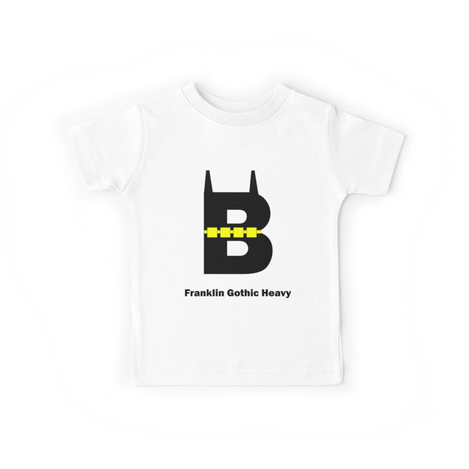 'Franklin Gothic Heavy Font Iconic Charactography - B' Kids Clothes by  Custranz