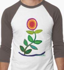 Thriving Flower Men's Baseball ¾ T-Shirt