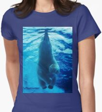 Polar Bear Paddle Women's Fitted T-Shirt