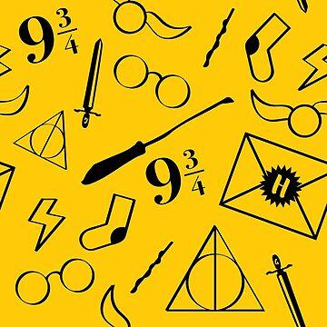 Magical Pattern - Yellow & Black by nerdfelt
