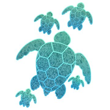 Family of Sea Turtles by ShaKirShoppe
