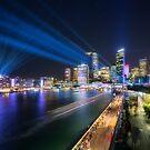 Laser Show above the Sydney Skyline by Danielasphotos