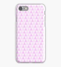 Girly Pink White Trendy Triangles Pattern iPhone Case/Skin